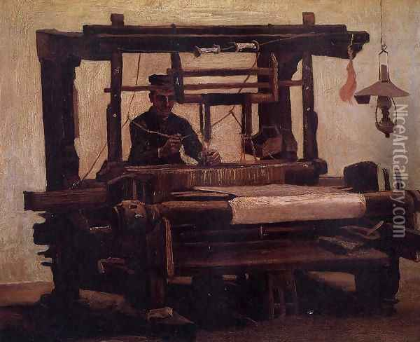 Weaver, seen from the Front Oil Painting - Vincent Van Gogh