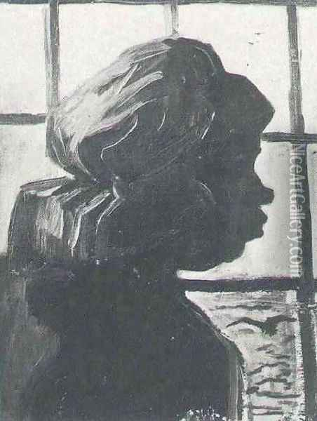 Peasant Woman Seen Against The Window Oil Painting - Vincent Van Gogh