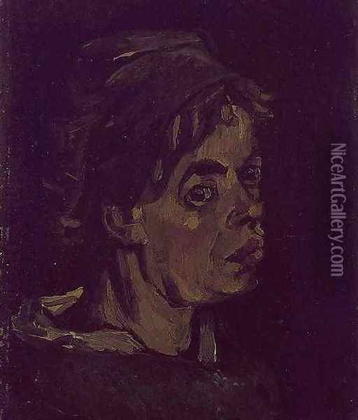 Head Of A Woman I Oil Painting - Vincent Van Gogh