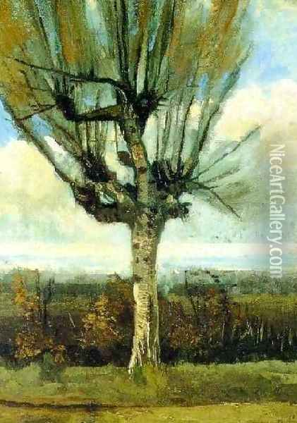 The Willow Oil Painting - Vincent Van Gogh