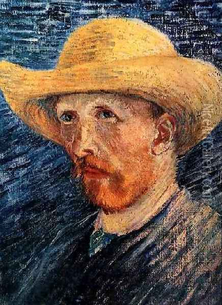 Self Portrait With Straw Hat II Oil Painting - Vincent Van Gogh
