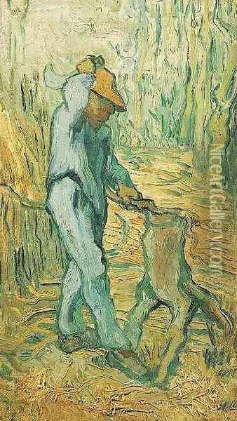 The Woodcutter (after Millet) Oil Painting - Vincent Van Gogh