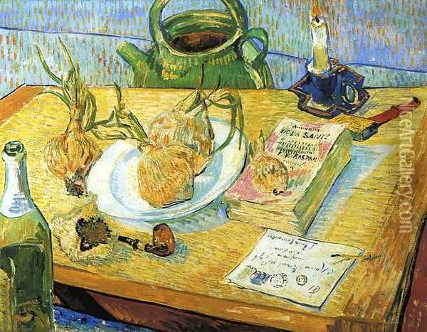 Still Life with Onions Oil Painting - Vincent Van Gogh
