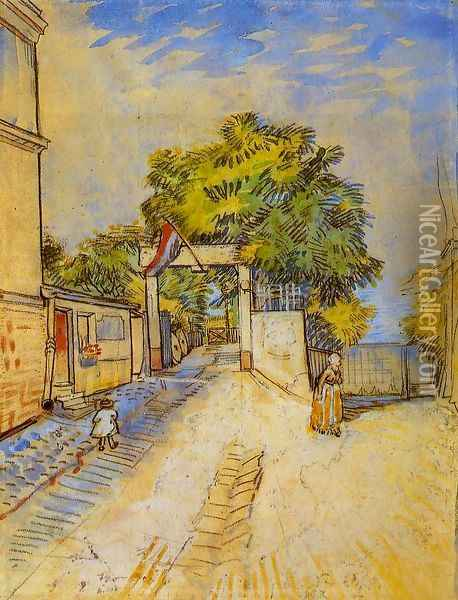 The Entrance of a Belvedere Oil Painting - Vincent Van Gogh
