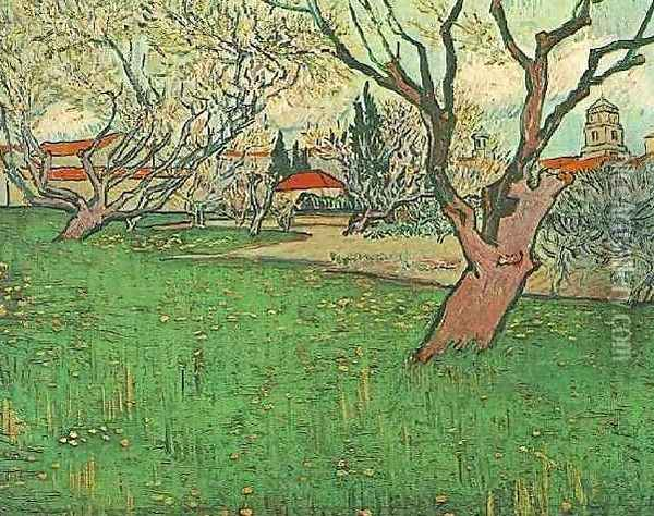 View Of Arles With Trees In Blossom Oil Painting - Vincent Van Gogh