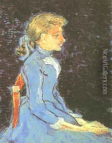 Portrait Of Adeline Ravoux III Oil Painting - Vincent Van Gogh