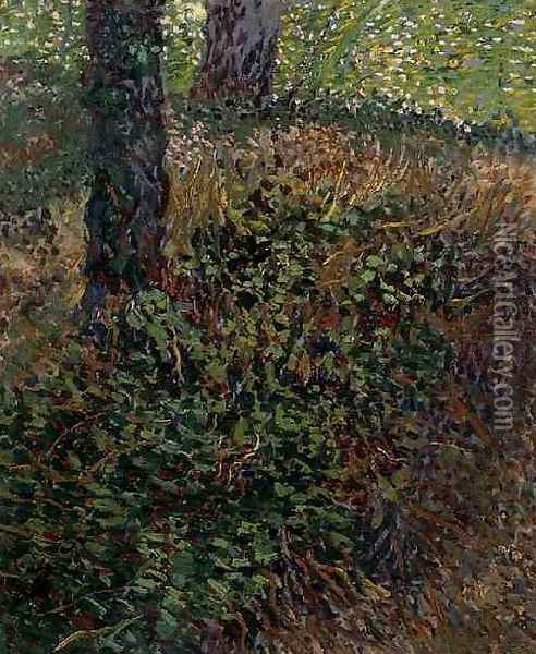 Undergrowth Oil Painting - Vincent Van Gogh
