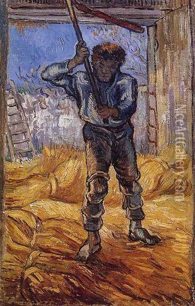 The Thrasher (after Millet) Oil Painting - Vincent Van Gogh