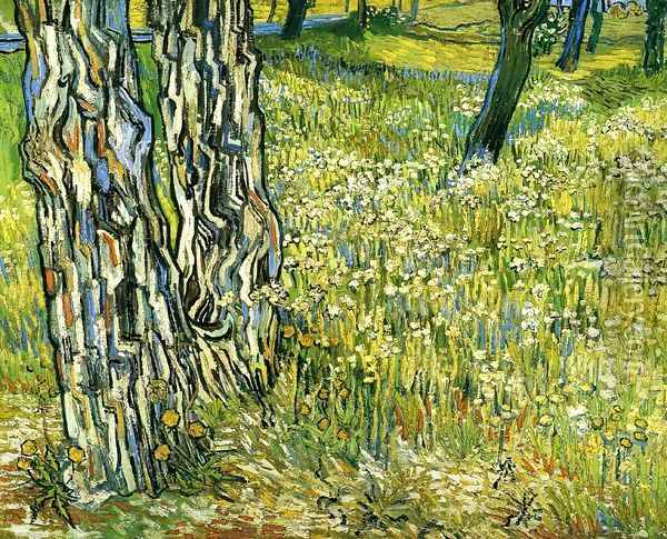 Tree Trunks in the Grass Oil Painting - Vincent Van Gogh