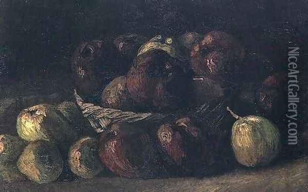 Still Life With A Basket Of Apples Oil Painting - Vincent Van Gogh