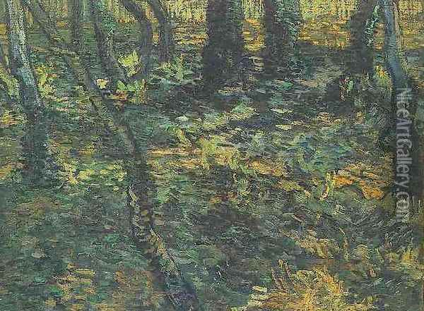 Undergrowth With Ivy Oil Painting - Vincent Van Gogh