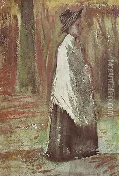 Woman in the Woods Oil Painting - Vincent Van Gogh