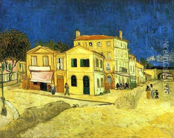The Street, the Yellow House Oil Painting - Vincent Van Gogh