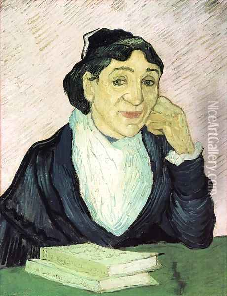 L'Arlesienne, Portrait of Madame Ginoux III Oil Painting - Vincent Van Gogh