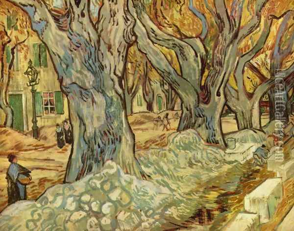 canalization works Oil Painting - Vincent Van Gogh