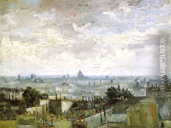 The Roofs of Paris Oil Painting - Vincent Van Gogh