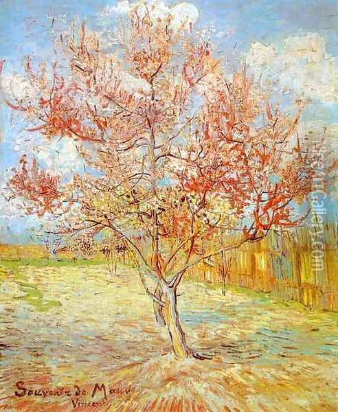 Peach Tree in Blossom at Arles Oil Painting - Vincent Van Gogh