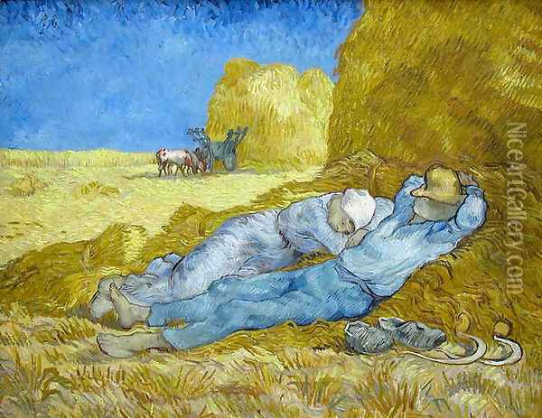 La Méridienne 1889 Oil Painting - Vincent Van Gogh