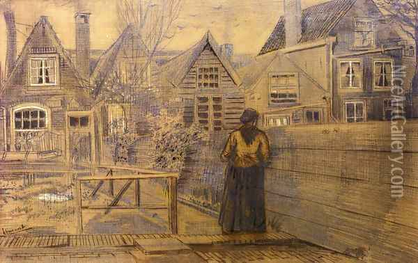 Sien's Mother's House Seen from the Backyard Oil Painting - Vincent Van Gogh