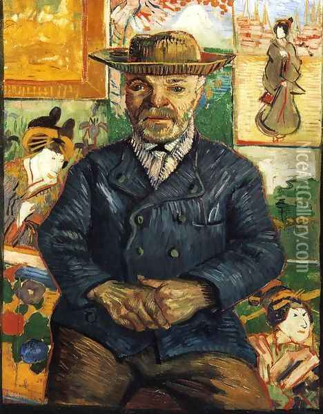 Portrait of Pere Tanguy I Oil Painting - Vincent Van Gogh