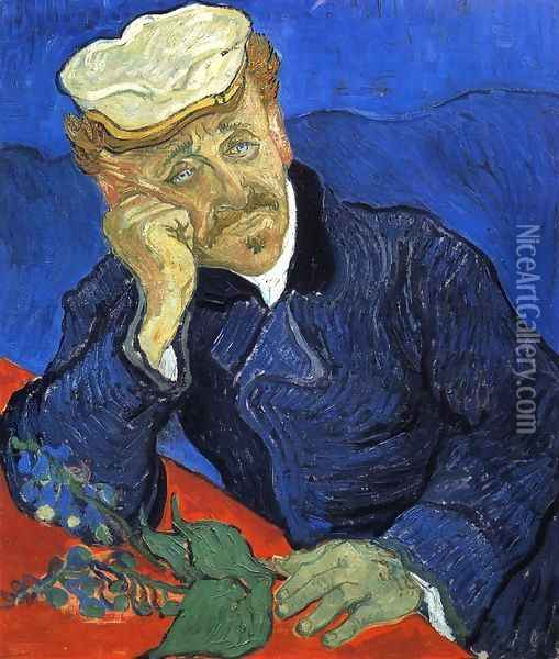 Portrait Of Doctor Gachet Oil Painting - Vincent Van Gogh