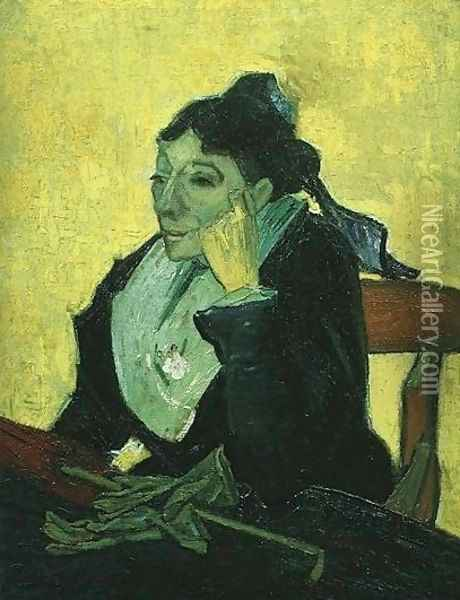 L'Arlesienne: Madame Ginoux With Gloves And Umbrella Oil Painting - Vincent Van Gogh