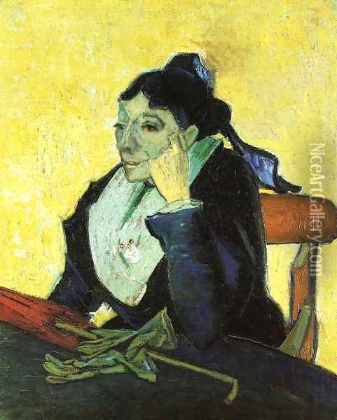 L'Arlesienne, Portrait of Madame Ginoux Oil Painting - Vincent Van Gogh