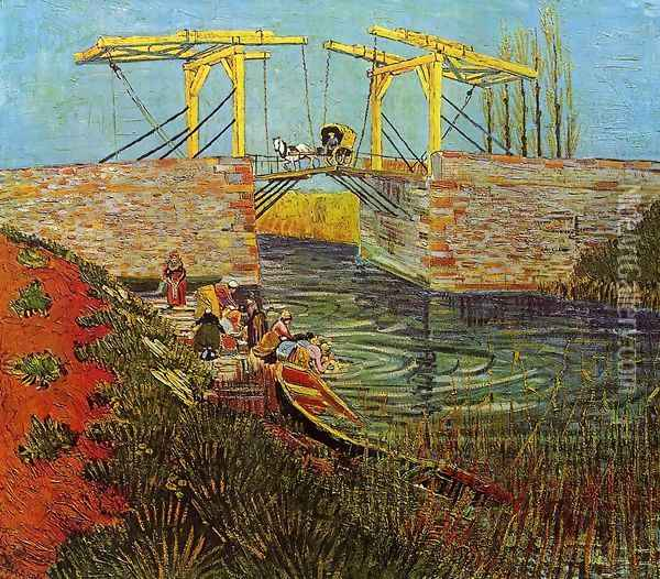 The Langlois Bridge at Arles I Oil Painting - Vincent Van Gogh