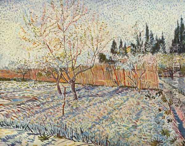field on winter Oil Painting - Vincent Van Gogh