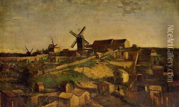 Montmartre: the Quarry and Windmills 2 Oil Painting - Vincent Van Gogh