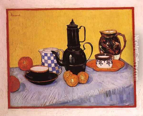 Still Life with Coffeepot Oil Painting - Vincent Van Gogh