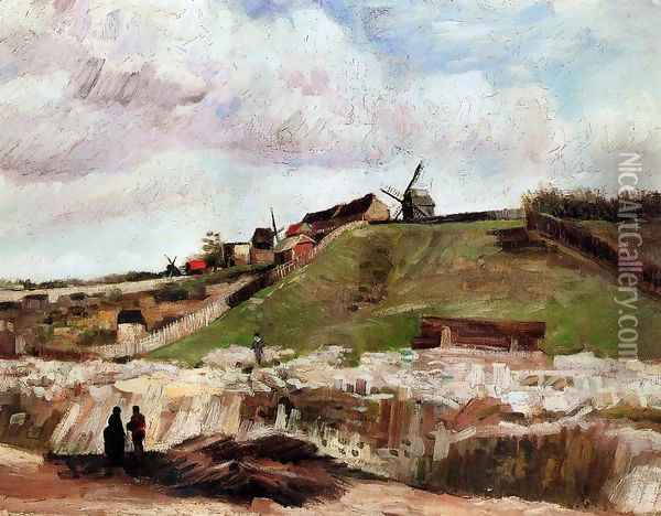 Montmartre: the Quarry and Windmills Oil Painting - Vincent Van Gogh