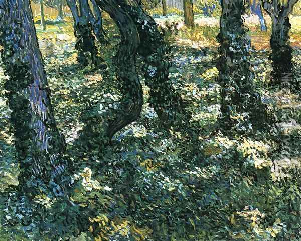 Undergrowth 2 Oil Painting - Vincent Van Gogh