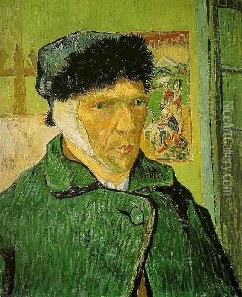 Self-Portrait with Bandaged Head Oil Painting - Vincent Van Gogh