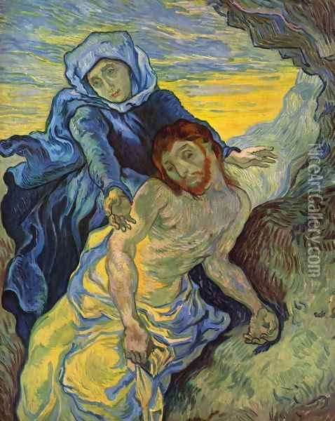 Pietà Oil Painting - Vincent Van Gogh