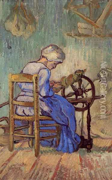 The Spinner Oil Painting - Vincent Van Gogh