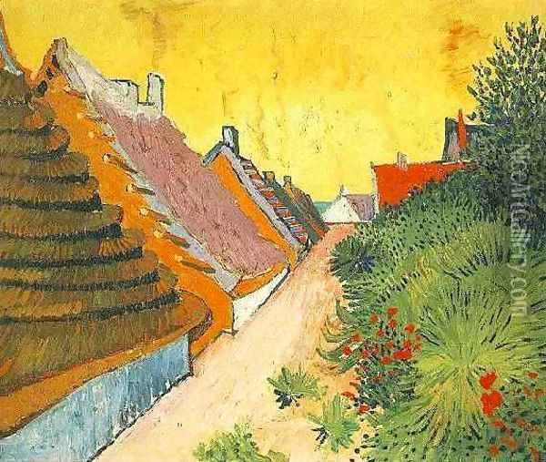 Rue de Saintes-Maries 1888 Oil Painting - Vincent Van Gogh