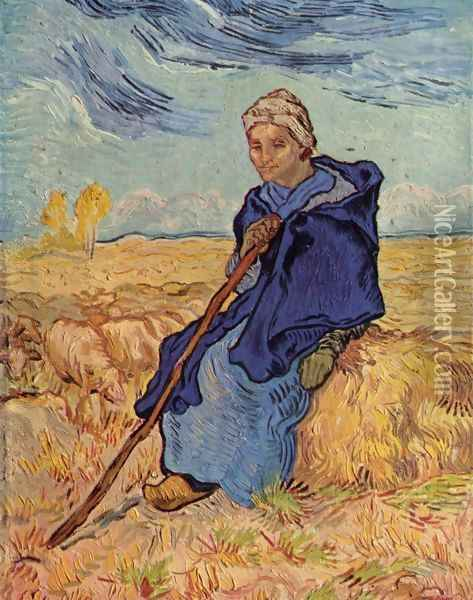 old woman sitting Oil Painting - Vincent Van Gogh