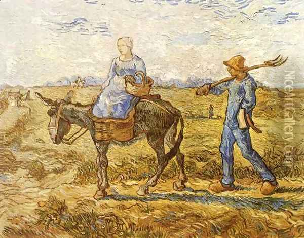 Morning Oil Painting - Vincent Van Gogh