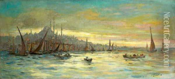 Vue D'istanbul Oil Painting - Fausto Zonaro