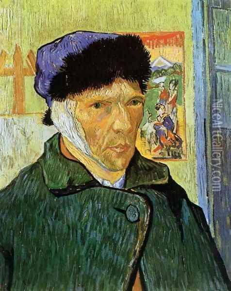 Self Portrait with Badaged Ear Oil Painting - Vincent Van Gogh