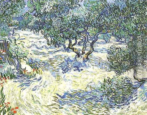 Plantation d'oliviers 2 1889 Oil Painting - Vincent Van Gogh