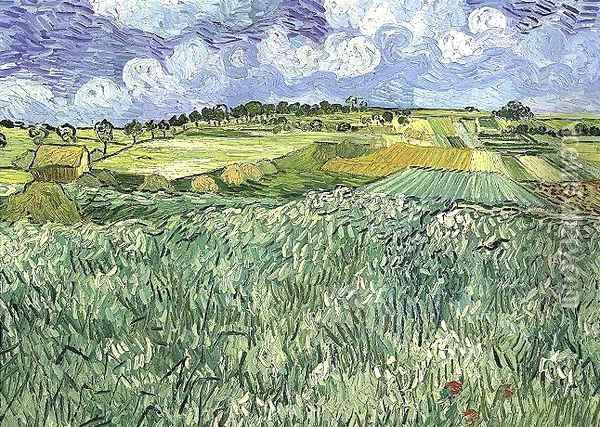 Plaine près d'Auvers 1890 Oil Painting - Vincent Van Gogh