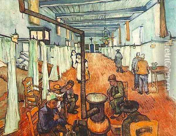 ward in the hospital in arles 1889 Oil Painting - Vincent Van Gogh