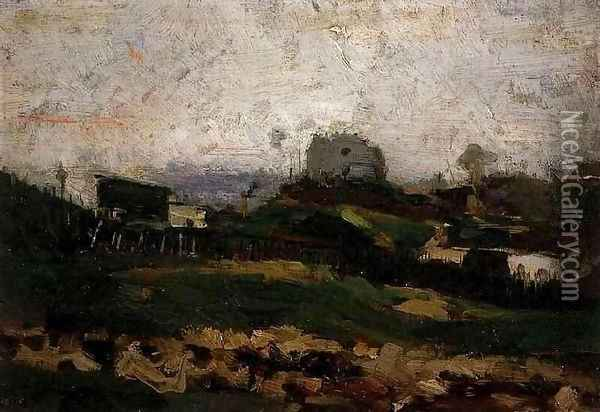 View of Montmartre with Quarry Oil Painting - Vincent Van Gogh