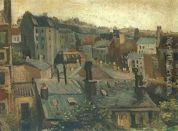 View of the Roofs of Paris 1 Oil Painting - Vincent Van Gogh