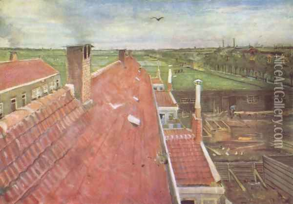 the roof Oil Painting - Vincent Van Gogh
