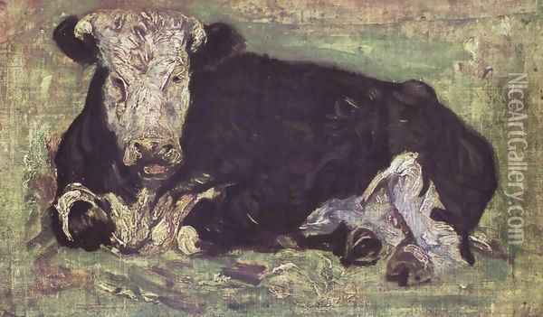 Vache allongée 1883 Oil Painting - Vincent Van Gogh