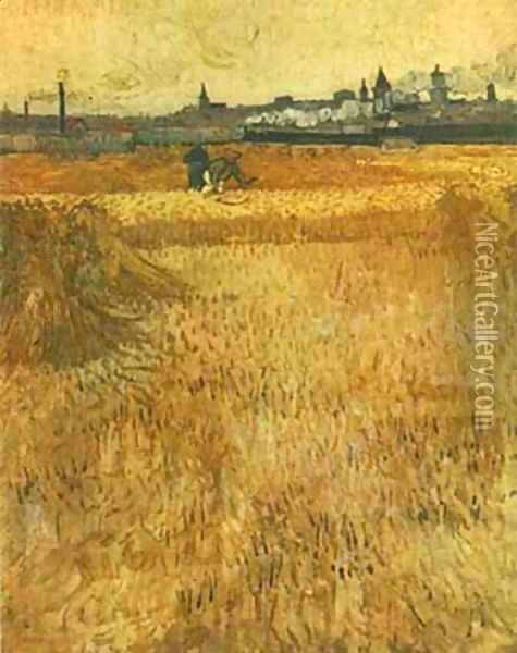 Arles View From The Wheat Fields 1888 Oil Painting - Vincent Van Gogh