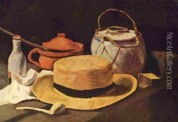 still life with yellow hat Oil Painting - Vincent Van Gogh